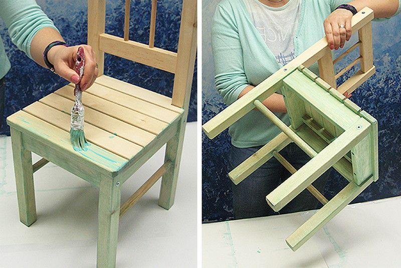 Покраска деревянного стула своими руками 56